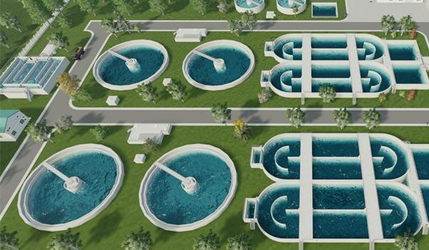 một hệ thống xử lý nước thải